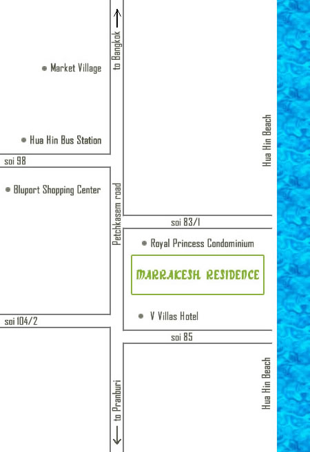 Marrakesh Hua Hin Residences Location Map